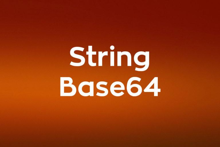 Convertir String a Base64 y Base64 a String