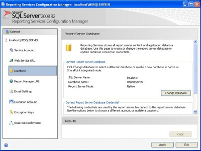 Reporting Services Configuracion - SQL Server 2008