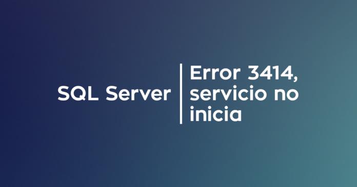 SQL Server - Error 3414