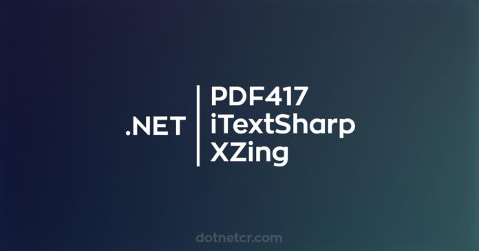 pdf417 iTextSharp XZing