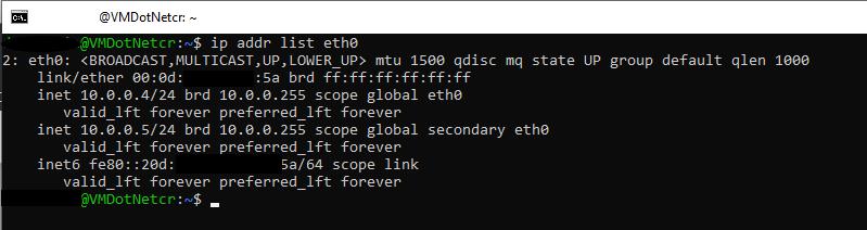 Azure Ubuntu IPs